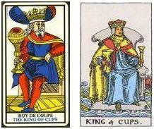 Arcanos menores rey de Copas